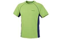 Columbia Men&#039;s Insight Ice Short Sleeve Crew neon green